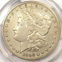 1893-S MORGAN SILVER DOLLAR $1 - CERTIFIED PCGS VF DETAILS -  KEY DATE COIN
