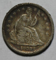 1838 SEATED DIME VB46