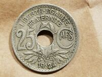 1924 FRANCE 25 CENTIMES FRENCH 1/4 FRANC COIN NICE