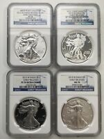 2013 WEST POINT SILVER EAGLE 4-COIN COLLECTION NGC PF/SP/MS 70 EARLY RELEASES