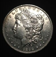 1896 MORGAN SILVER DOLLAR - UNCIRCULATED - LUSTER -90 SILVER