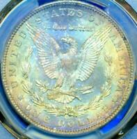 1904-O $1 MORGAN BEAUTIFUL RAINBOW TONING PCGS MINT STATE 65 DR