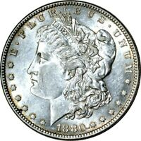 1880-O $1 MORGAN SILVER DOLLAR AU  K7935
