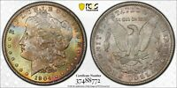 1904-O MORGAN SILVER DOLLAR PCGS MINT STATE 64 TONED DR