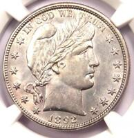 1892 O BARBER HALF DOLLAR 50C COIN   CERTIFIED NGC UNCIRCULATED DETAIL  MS UNC