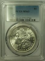 1886 MORGAN SILVER DOLLAR $1 COIN PCGS MINT STATE 63