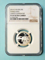 2014 S SILVER PROOF EVARGLADS   LIMITED EDITION SET   GRADED