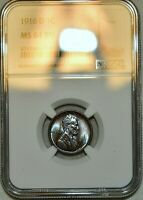 NGC MS 64 BN 1916 D LINCOLN CENT  BEAUTIFULLY TONED SPECIMEN