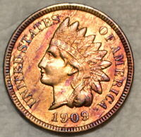 UNCIRCULATED 1909 S INDIAN HEAD CENT  ATTRACTIVELY TONED SPE