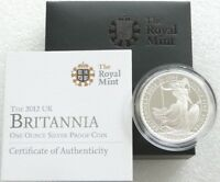 2012 ROYAL MINT BRITISH BRITANNIA 2 TWO POUND SILVER PROOF 1OZ COIN BOX COA