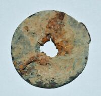 CHINA ANCIENT BRONZE COIN UNKNOWN DYNASTY RUST ON THE SURFAC