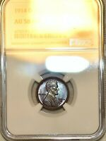 NGC AU 58 BN 1914 D LINCOLN CENT  BEAUTIFULLY TONED SPECIMEN