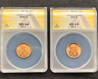1950-S/S RPM-14 MINT STATE 64 RED AND 1953-D/D RPM-4 MINT STATE 65 RED  TWO-COIN RPM SET