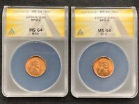 1954-S/S RPM-2 AND RPM-4  TWO-COIN RPM SET  BOTH CERTIFIED MINT STATE 64 RED