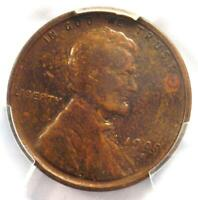 1909-S VDB LINCOLN WHEAT CENT 1C - PCGS FINE DETAIL -  DATE CERTIFIED PENNY