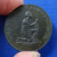 ANTI   SLAVERY HALFPENNY 1790S   AM I NOT A MAN AND A BROTHER   D & H 1038A