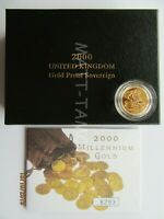 2000 ROYAL MINT SOLID GOLD PROOF FULL SOVEREIGN BOXED AS ISS