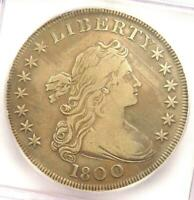 1800 DRAPED BUST SILVER DOLLAR $1 - CERTIFIED ICG VF25 DETAILS -  COIN