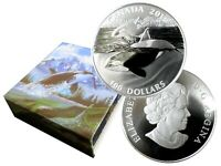 CANADIAN 2016 $100 LEGAL TENDER 1 OZ FINE SILVER THE ORCA MATTE PROOF