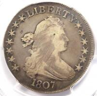 1807 DRAPED BUST HALF DOLLAR 50C O-104 - CERTIFIED PCGS VF DETAILS -  COIN