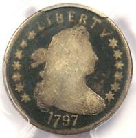 1797 DRAPED BUST DIME 10C 13 STARS - CERTIFIED PCGS GOOD DETAILS -  COIN