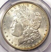 1904 MORGAN SILVER DOLLAR $1 - PCGS MINT STATE 65 -  GEM 1904-P - $2,350 VALUE