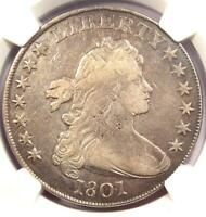 1801 DRAPED BUST SILVER DOLLAR $1 - CERTIFIED NGC VF DETAILS -  COIN