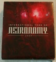 2009 COLOUR 10Z SILVER PROOF  $1 INTERNATIONAL YEAR OF ASTRO