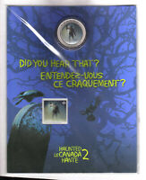 CANADA  2015 HAUNTED CANADA SERIES LENTICULAR 3D 25 CENT COIN & STAMP GIFT SET