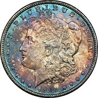 1901-O USA MORGAN SILVER DOLLAR NGC MINT STATE 63 COLOR UNC GORGEOUS TONED GEM BU DR