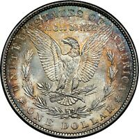 1881-P USA MORGAN SILVER DOLLAR NGC MINT STATE 63 GEM STRIKING UNC TONED BU COLOR DR