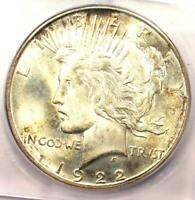 1922-D PEACE SILVER DOLLAR $1 COIN - CERTIFIED ICG MINT STATE 66 - $1,620 VALUE