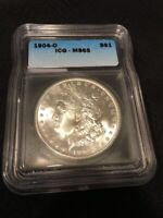 1904 O MORGAN DOLLAR ICG MINT STATE 65 - UNCIRCULATED - GOOD DATE - CERTIFIED SLAB - $1