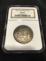 1892 COLUMBIAN COMMEMORATIVE HALF DOLLAR NGC MINT STATE 64 - UNCIRCULATED CERTIFIED SLAB