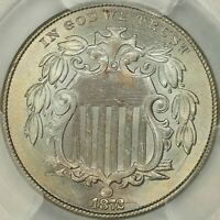 1872 SHIELD NICKEL PCGS MINT STATE 65