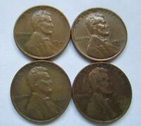 US 1 CENT LINCOLN 1941 P 1942 D 1944 P 1945 D WHEAT CENT COIN LOT