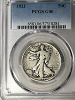 1921 WALKING LIBERTY HALF DOLLAR PCGS G06 KEY DATE COIN