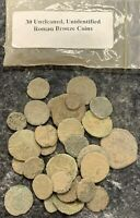 LOT OF  30  UNCLEANED / UNIDENTIFIED ROMAN BRONZE COINS  COO
