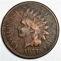 1877 INDIAN HEAD PENNY BEAUTIFUL HIGH GRADE COIN VERY RARE D