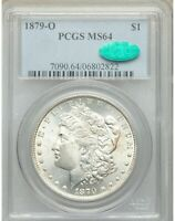 1879-O MORGAN SILVER DOLLAR $1 MINT STATE 64 PCGS CAC