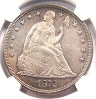 1872 SEATED LIBERTY SILVER DOLLAR $1   NGC UNCIRCULATED DETAIL  UNC MS