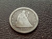 GOOD 1875 S U.S. TWENTY CENT PIECE