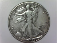 1945-D LIBERTY WALKING 90 SILVER US HALF DOLLAR -  DATE AND DETAILS