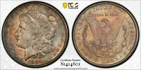 1891-S MORGAN SILVER DOLLAR PCGS AU58 BU GORGEOUS COLOR UNC CHOICE TONED DR