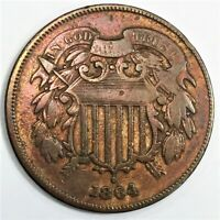 1864 TWO CENT PIECE BEAUTIFUL HIGH GRADE COIN RARE DATE