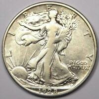 1928-S WALKING LIBERTY HALF DOLLAR 50C COIN - SHARP DETAILS -  DATE