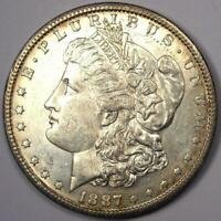 1887-S MORGAN SILVER DOLLAR $1 -  DATE - EXCELLENT CONDITION -  LUSTER