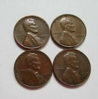US 1 CENT LINCOLN 1950 P 1952 P 1953 S 1954 S WHEAT CENT COIN LOT