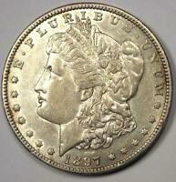 1897-O MORGAN SILVER DOLLAR $1 - CHOICE AU -  DETAIL & LUSTER