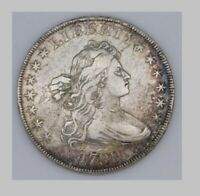 1799 DRAPED BUST SILVER DOLLAR, 13 STARS WITH HERALDIC EAGLE REVERSE